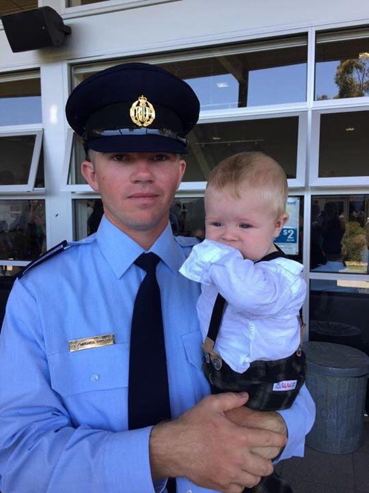 Mitchell and Cameran at Graduation Parade