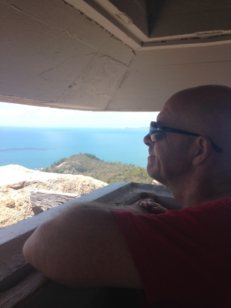 Barry looking out from the Fort